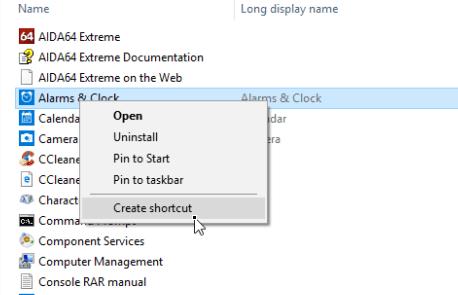 create app keyboard shortcut