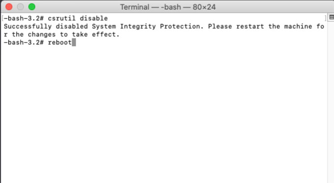 disable SIP